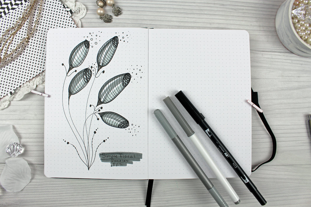simple floral doodle ideas tutorials