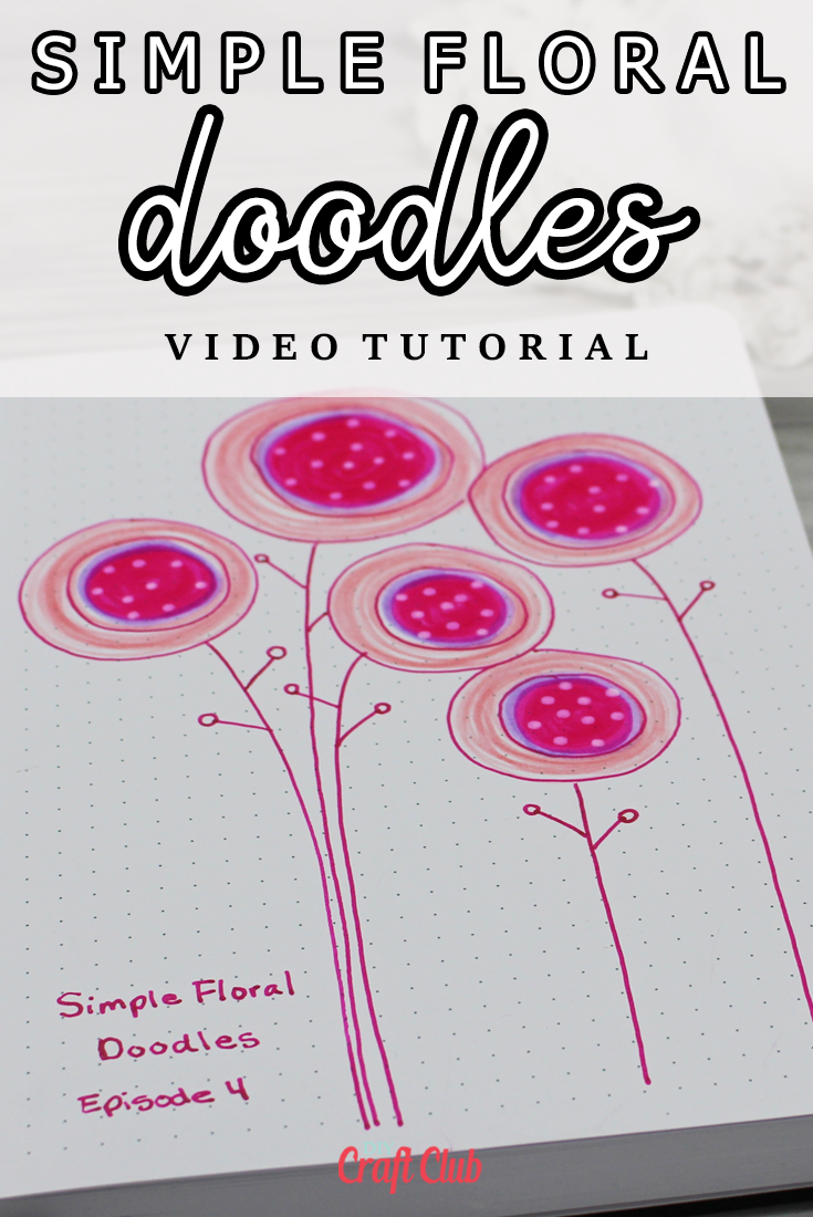 how to draw simple floral doodles
