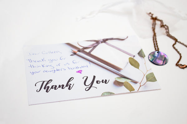 Thank you note ideas for small business