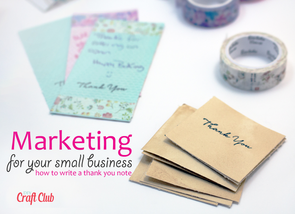 How to write a thank you note for small business