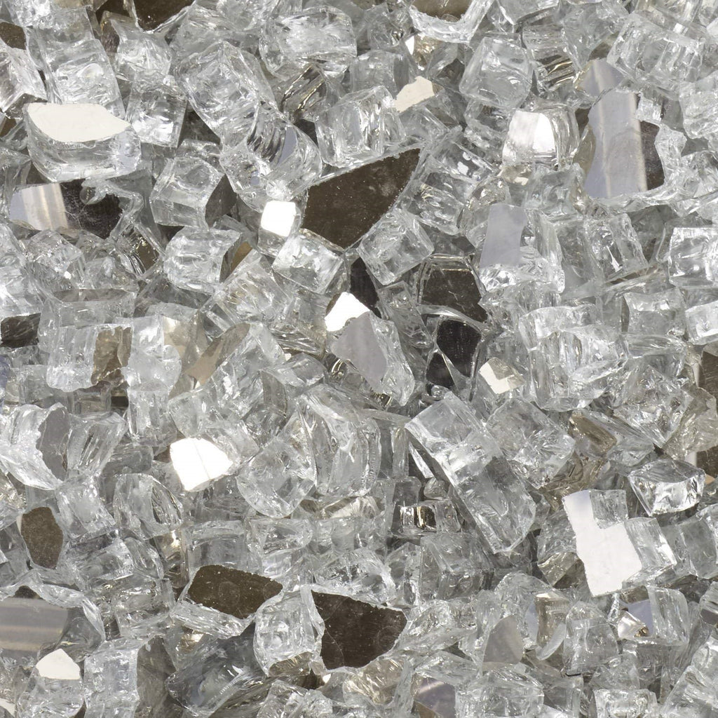 Sparkly fire glass for use in art decoration projects and geode resin arts and crafts