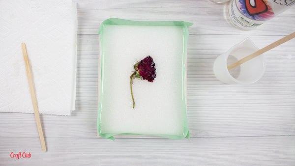 casting a dried rose into resin tutorial