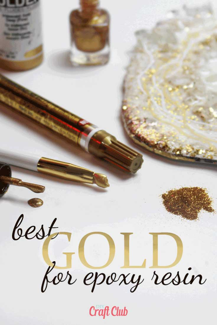 How To Use Gold In Resin by DIY Craft Club