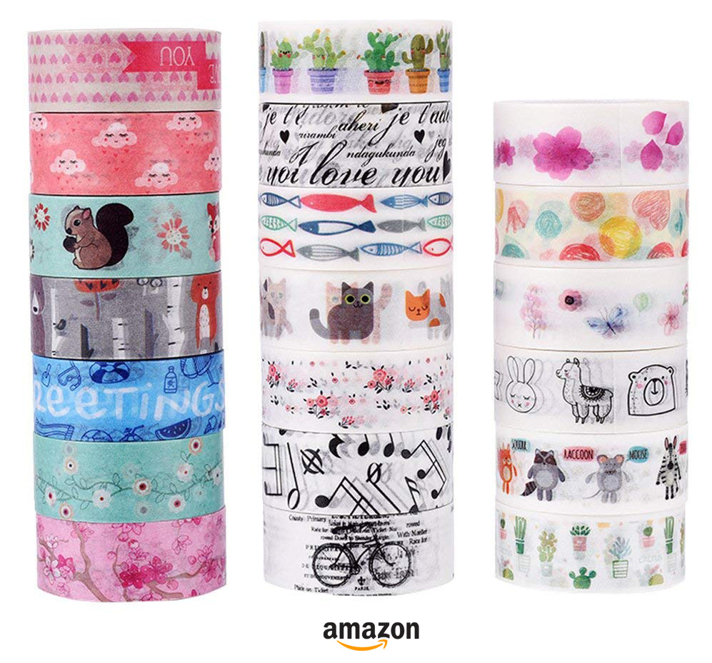 washi tape with cute animals