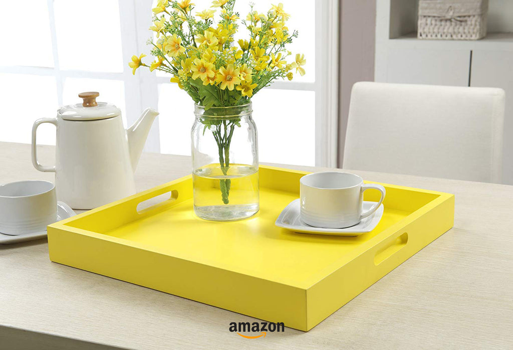yellow kitchen decor ideas serving tray