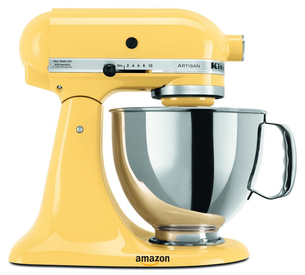yellow kitchen decor ideas stand mixer by kitchenaid