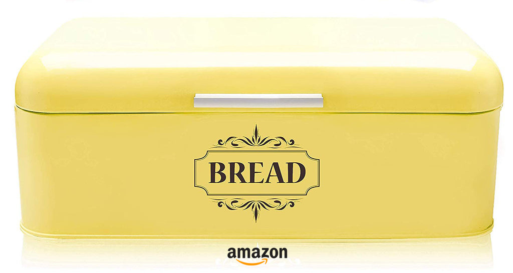 yellow kitchen decor ideas vintage bread box