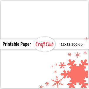 coral Christmas paper to print