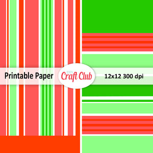Lined Christmas paper to print