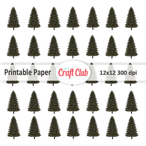 Christmas tree digital paper