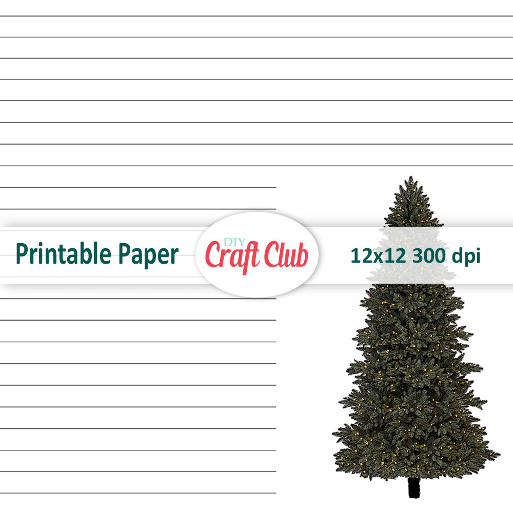 photograph relating to Printable Note Papers identified as Xmas Take note Paper