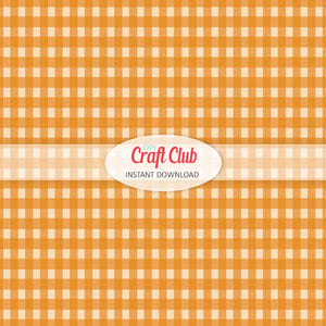 light orange gingham paper