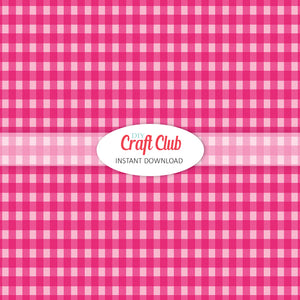 pink gingham paper to print