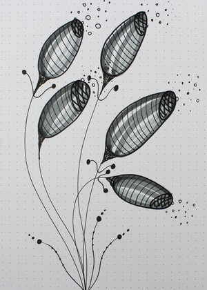 simple floral doodles downloadable digital images