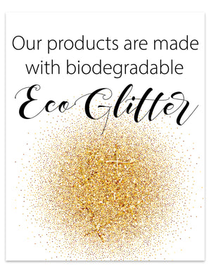 Craft Show Printables | Eco Friendly Glitter Sign