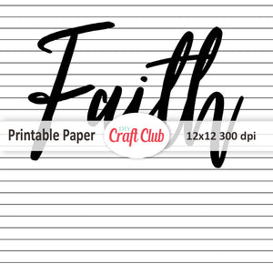 Faith scrapbooking paper bible study sheets
