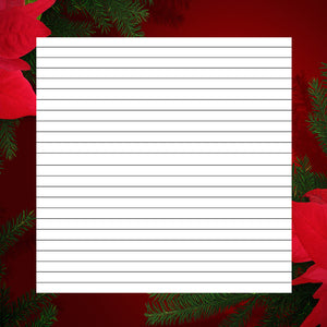 lined printable Christmas and holiday paper