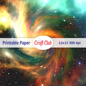 free galaxy paper to print