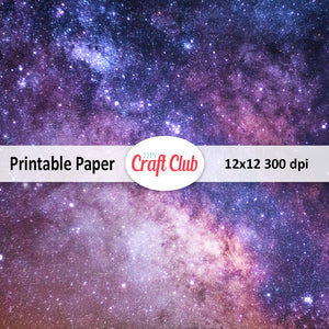 galaxy scrapbooking paper