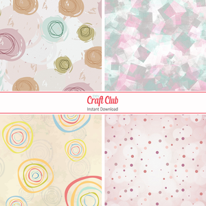 Printable Scrapbooking Paper | Abstract Pastels