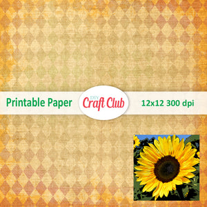 sunflower printables paper