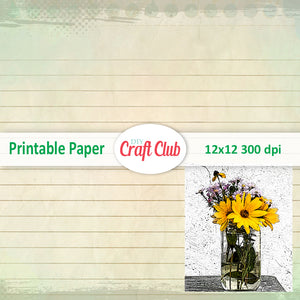 sunflower printables free paper
