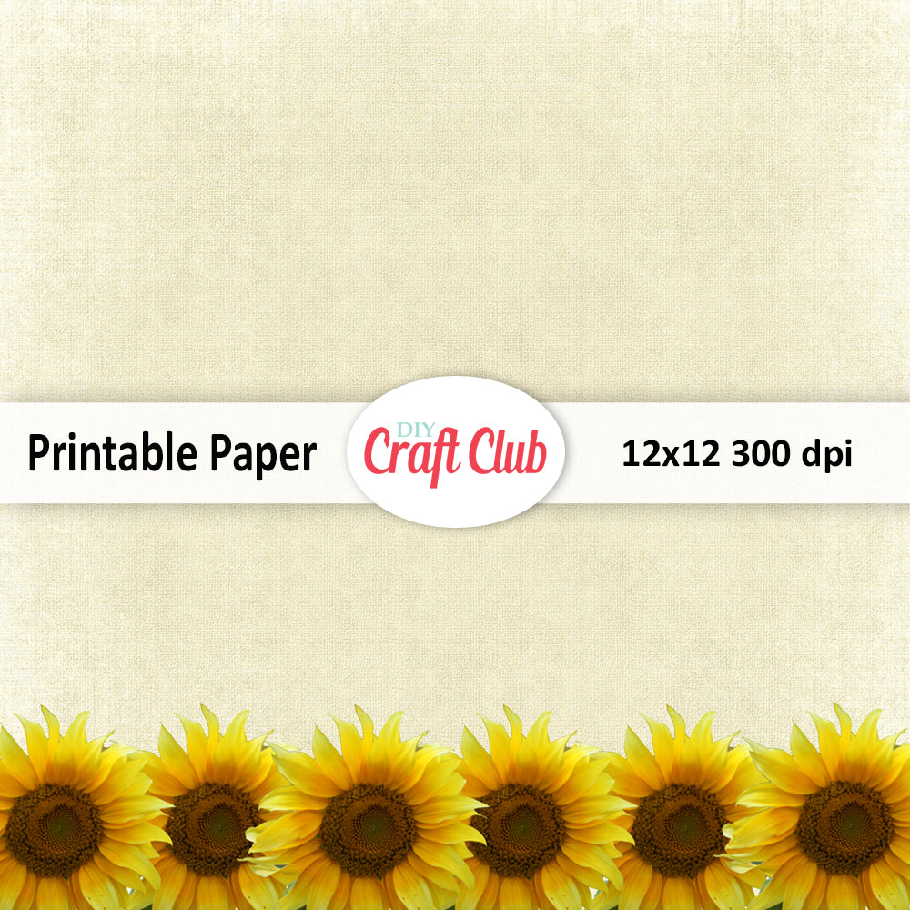graphic about Sunflower Printable identify Sunflower Electronic Paper Papercrafting Printable Papers
