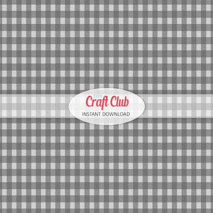 black and grey gingham paper to print