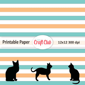 black cat printable paper