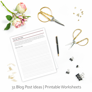 Monthly Jewelry Planner Worksheets