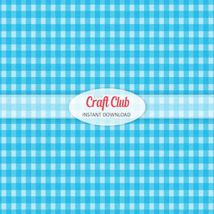 blue gingham paper to print