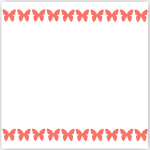 printable butterfly paper border