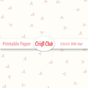 cherry scrapbooking paper