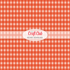 dark orange gingham paper to print