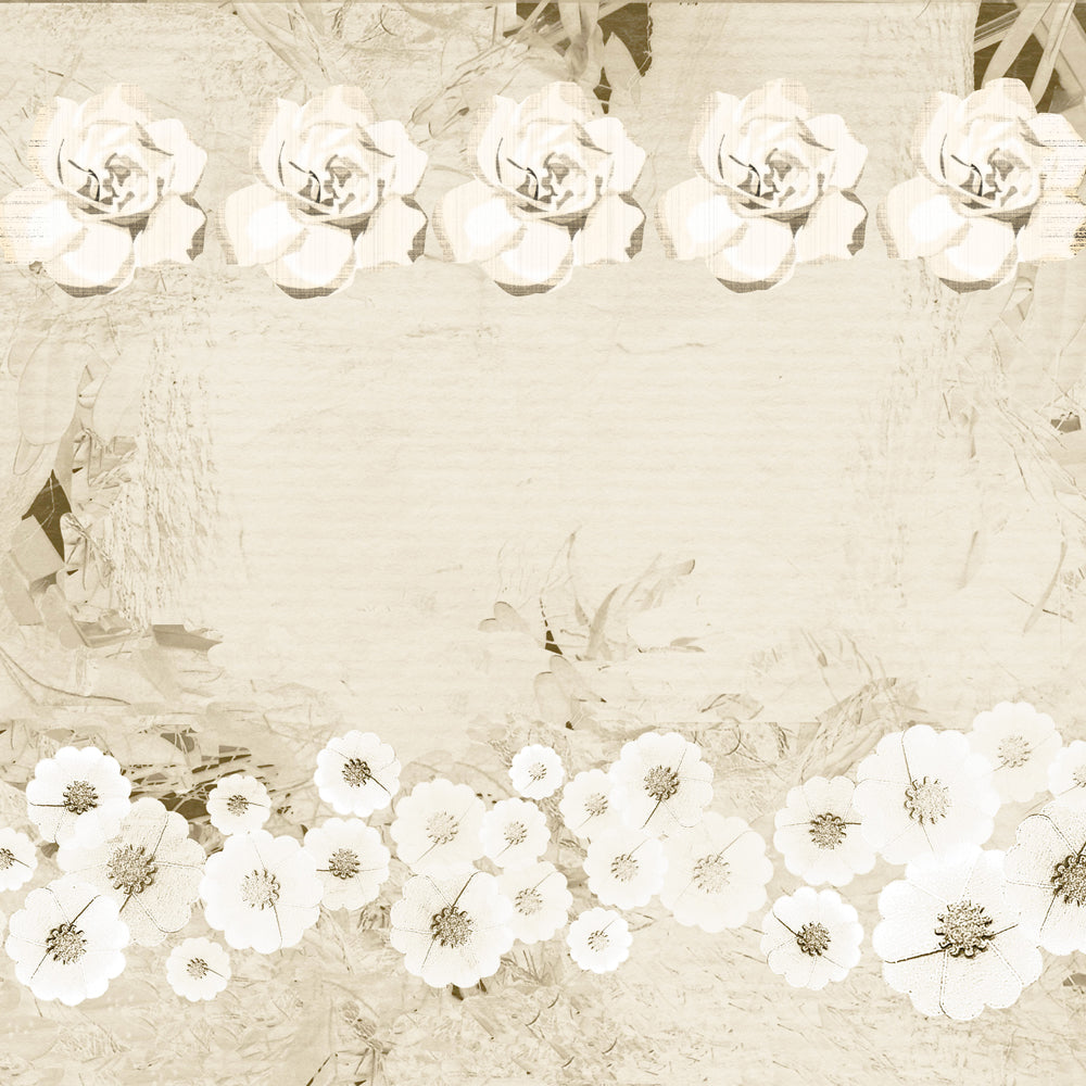 This is a graphic of Scrapbook Paper Printable for vintage floral