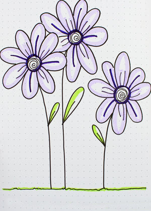 floral doodles to print