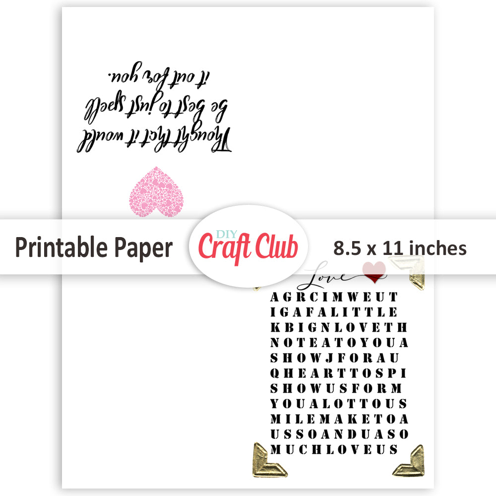graphic relating to Free Printable Love Cards identified as No cost Printable Greeting Playing cards - Do it yourself Craft Club