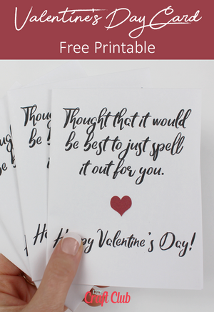 free valentine's day card printables