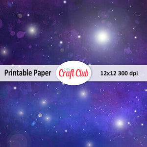 printable galaxy paper