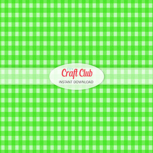 green gingham paper to print