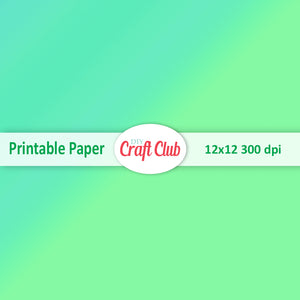 green gradient paper to print