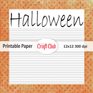 halloween paper to print