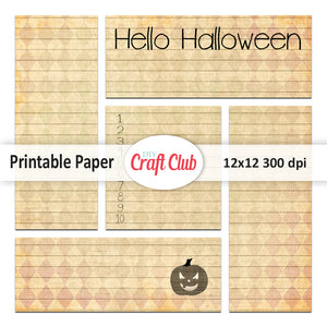 hello halloween printable paper
