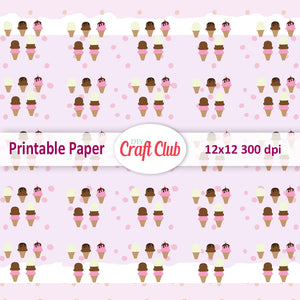 kawaii printable scrapbooking paper