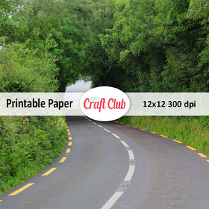 Irish country road printable