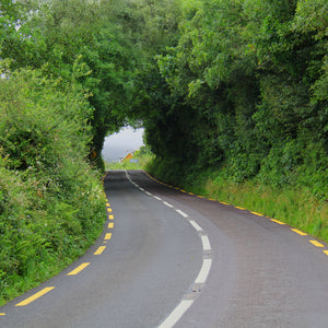Irish country roads stock photo