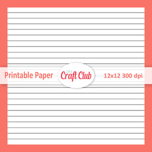 lined note paper to print coral