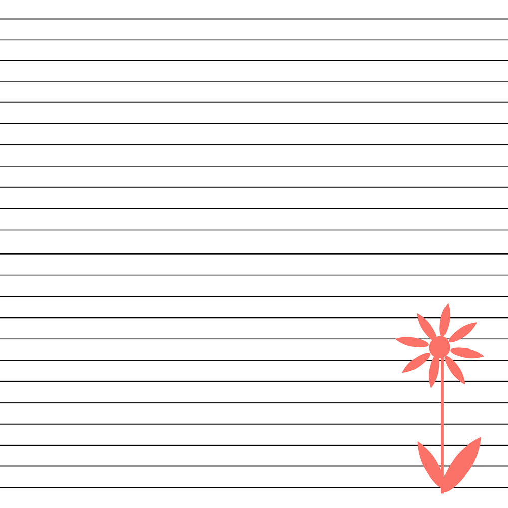 graphic relating to Lined Printable Paper named Floral Included Paper