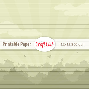 lined butterfly scrapbooking paper