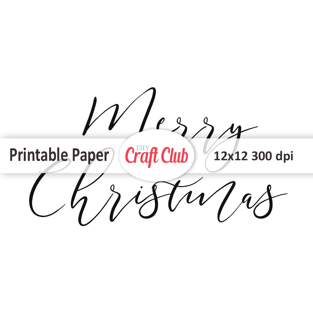 photo about Merry Christmas Printable called Merry Xmas Styled